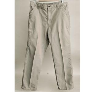 Carhartt Men's Tan Canvas Work Dungaree Pants